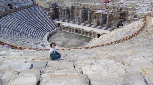 As ruínas de Hierápolis - Turquia.